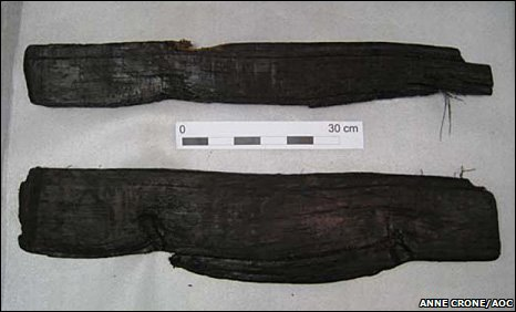 Two of the five oak planks