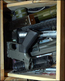 Guns in Terence Gavan's room