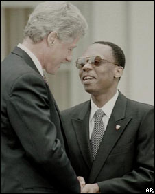 Bill Clinton and Jean-Bertrande Aristide