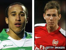 Andros Townsend (left) and Mark Randall