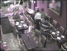 Waad Al-Baghdadi (in striped top) in Yas restaurant on the night of the row