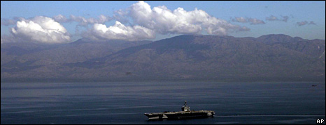 USS Carl Vinson off Haiti (15 January 2010)