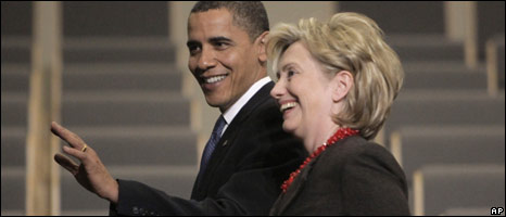 Barack Obama and Hillary Clinton in Copenhagen