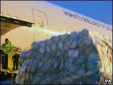 Haiti relief flight