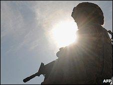 US soldierin Parwan province 7.1.10