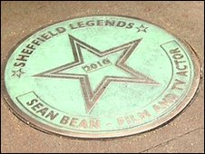 Sean Bean's star on the Sheffield Walk of fame