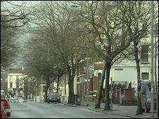 University Street in south Belfast
