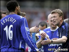 Joleon Lescott and David Moyes