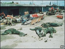 Gas attack at Halabja in 1988
