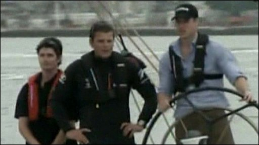 Prince William on boat