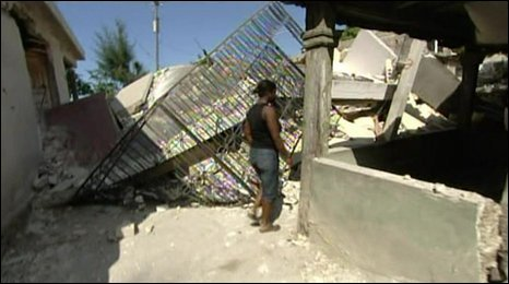 Rubble in Leogane