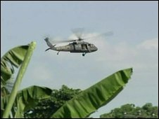 Helicopter in Haiti