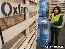 Aid is prepared by Oxfam in Bicester, UK