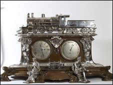 Steam Engine Clock Barometer