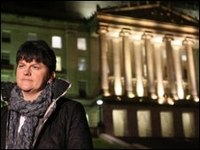 Arlene Foster outside Stormont