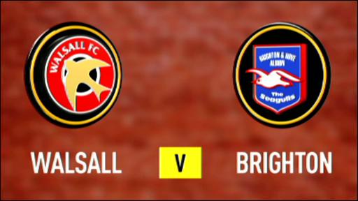 Walsall 1-2 Brighton