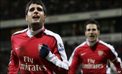 Fran Merida (left) and Cesc Fabregas were both on the scoresheet