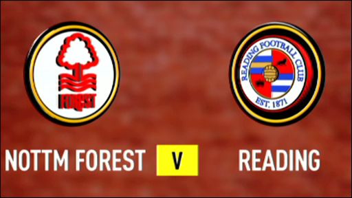 Nottm Forest 2-1 Reading
