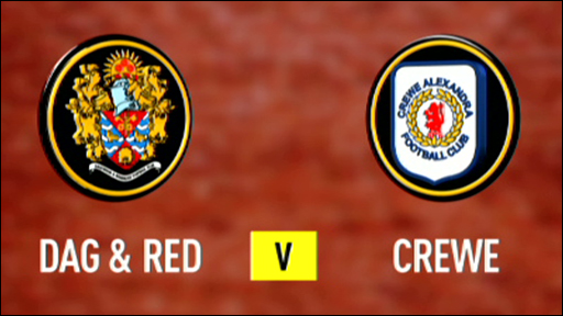 Dag & Red 2-0 Crewe