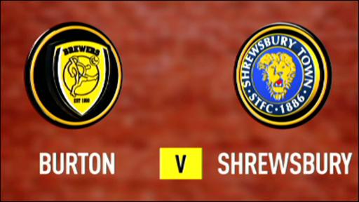 Burton 1-1 Shrewsbury