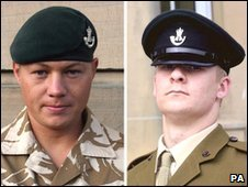 Cpl Lee Brownson and Rifleman Luke Farmer