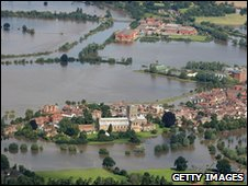 Floods in Tewkesbury