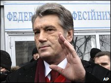 Viktor Yushchenko in Kiev, Ukraine, 17 January 2010