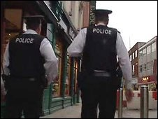 Police on patrol in Belfast