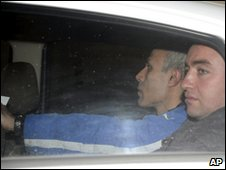 Mehmet Ali Agca leaving prison 18 Jan 2010