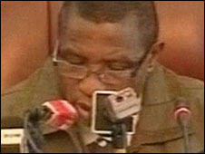 TV grab of Capt Moussa Dadis Camara