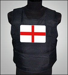 Stab vest with England flag