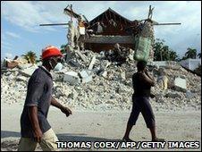 Earthquake damage in Leogane, Haiti