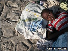 Boy in Haiti