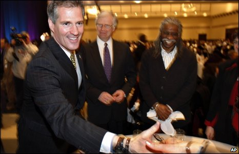 Scott Brown campaigns in Boston, 18 January