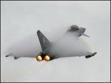 Royal Air Force Typhoon aircraft