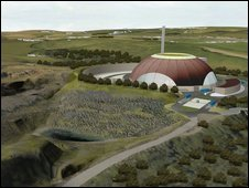 Artist's impression of incinerator (pic: Viridor)