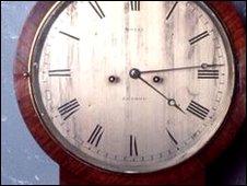 An antique wall clock