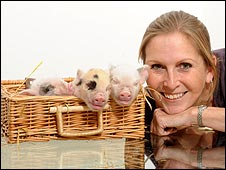 Jane Croft and her pigs