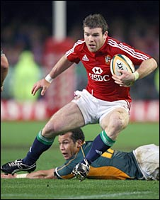 Gordon D'Arcy steps for the Lions