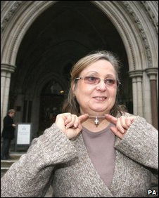 British Airways employee Nadia Eweida, 58, outside the Royal Courts of Justice in central London