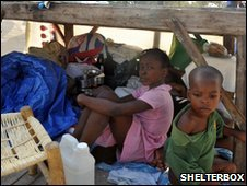 Children affected by Haiti earthquake