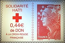 French stamp issued in solidarity with victims in Haiti