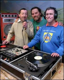 SCORE member Carl Fletcher, Music Pool DJ Mark 'Lofty' Loughman and SCORE member Johnathan Ley