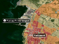 Satellite image showing logistical problems