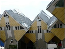 Modern houses in Rotterdam