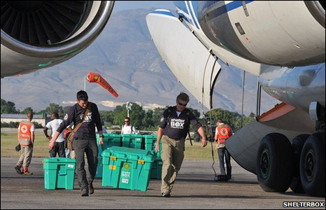 ShelterBox arrive in Haiti after earthquake