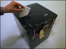 A ballot box
