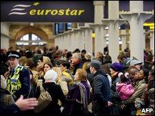 Eurostar passengers at St Pancras