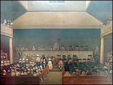 A Quaker meeting in London in the late 1780s