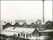 Cadbury's Bournville factory in the 1880s